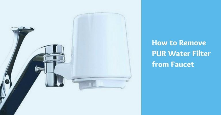 How to remove pur water filter from faucet