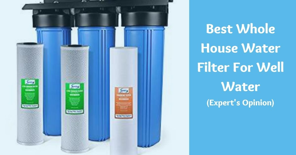 best whole house watre filters for well water